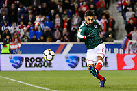 Harrison, NJ - Tuesday April 10, 2018: Oswaldo Alanis during leg two of a  CONCACAF Champions League semi-final match between the New York Red Bulls and C. D. Guadalajara at Red Bull Arena. C. D. Guadalajara defeated the New York Red Bulls 0-0 (1-0 on aggregate).