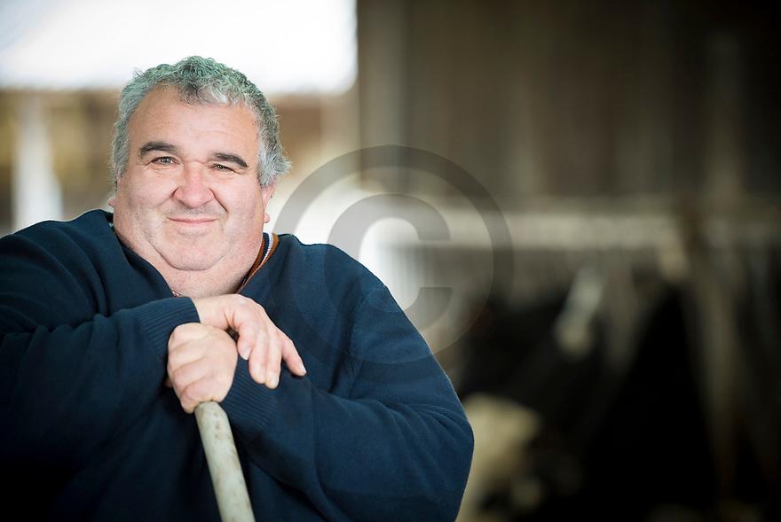 15/12/18 - MONTFERMY - PUY DE DOME - FRANCE - Portrait de Daniel CONDAT, Vice president de la Chambre d Agriculture du Puy de Dome, President de la Coordination Rurale 63 - Photo Jerome CHABANNE pour la France Agricole