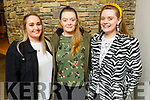 Leona O'Mahoney from Kanturk with Gloria and Emily Keane from Lixnaw attending the Zyber Theatre production of The Field in Siamsa Tire on Thursday