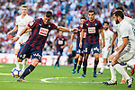 Real Madrid's player Nacho Fernandez and Eibar FC's player Sergi Enrich during a match of La Liga Santander at Santiago Bernabeu Stadium in Madrid. October 02, Spain. 2016. (ALTERPHOTOS/BorjaB.Hojas)
