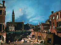 """Venice:  """"The Stonemason's Yard"""" by Canaletto.   Reference only."""