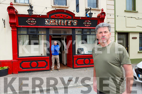 Cllr Michael O'Shea and his son Kealan at their bar in Milltown