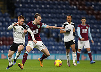 17th February 2021; Turf Moor, Burnley, Lanchashire, England; English Premier League Football, Burnley versus Fulham; Harrison Reed of Fulham competes for the ball with Harrison Reed of Fulham