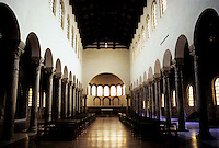 Italy: Ravenna--S. Giovanni Evangelista. Reconstructed nave after WW II bombing. Photo '83.
