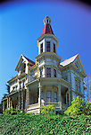 The Captain George Flavel House, a restored Victorian that is home to the Clatsop County Historical Society in Astoria, Oregon..#2317-1334