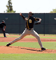 Reggie Lawson - San Diego Padres 2021 extended spring training (Bill Mitchell)