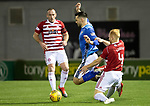 Hamilton Accies v St Johnstone…06.02.19…   New Douglas Park    SPFL<br />Tony SWatt is fouled by Ziggy Gordon<br />Picture by Graeme Hart. <br />Copyright Perthshire Picture Agency<br />Tel: 01738 623350  Mobile: 07990 594431