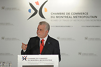 April 1st 2014 - Philippe, Couillard, Leader , Liberal Party of Quebec speak before the Montreal Board of Trade, Quebec elections will be held April 7, 2014.<br /> <br /> <br /> PHILIPPE COUILLARD<br /> ,Chef du Parti libéral du Québec s'adresse à la Chambre de Commerce du Montréal Métropolitain, le 1er avril 2014 dans le cades de la campagne electorale.<br /> <br /> Photo : Philippe Nguyen