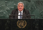 72 General Debate – 20 September <br /> <br /> His Excellency Tuilaepa Sailele Malielegaoi, Prime Minister of the Independent State of Samoa