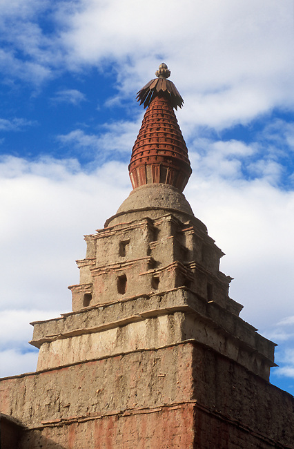 GUGE STYLE CHORTENS of the VAJRADHATU MANDALA at THOLING MONASTERY built by RINCHEN ZANGPO in the 11th C. - TIBET