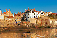 Village of historic fishing village of Robin Hood's Bay, Near Whitby, North Yorkshire, England.