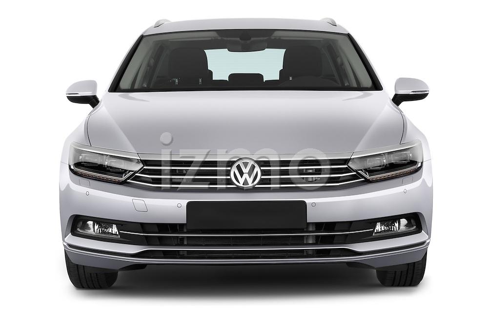 Car photography straight front view of a 2015 Volkswagen Passat Comfort 5 Door Wagon Front View