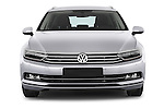 Car photography straight front view of a 2015 Volkswagen Passat Comfort 5 Door Wagon Front View