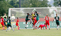 Erin McLeod punches the ball away..Saint Louis Athletica were defeated 1-0 by Washington Freedom at Anheuser-Busch, Soccer Park, Fenton, Missouri.