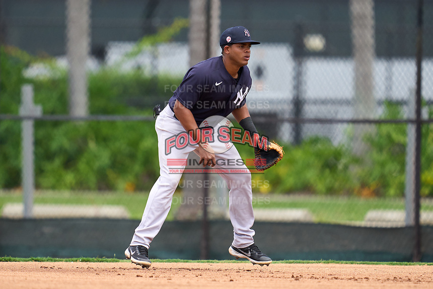 New York Yankees first baseman Jose Martinez (36) during an Extended Spring Training game against the Philadelphia Phillies on June 22, 2021 at the Carpenter Complex in Clearwater, Florida. (Mike Janes/Four Seam Images)