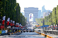 18th July 2021; Paris, France;  Illustration on the Champs Elysees during stage 21 of the 108th edition of the 2021 Tour de France cycling race, the stage of 108,4 kms between Chatou and finish at the Champs Elysees in Paris.