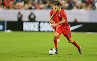 NASHVILLE, TENN - JULY 03: Christian Pulisic #10 during a 2019 CONCACAF Gold Cup Semifinal match between the United States and Jamaica at Nissan Stadium on July 03, 2019 in Nashville, Tennessee.