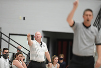 Pea Ridge head coach Heath Neal reacts, Friday, January 8, 2021 during a basketball game at Pea Ridge High School in Pea Ridge. Check out nwaonline.com/210108Daily/ for today's photo gallery. <br /> (NWA Democrat-Gazette/Charlie Kaijo)