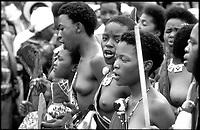 Swaziland; Umhalanga, la cerimonia delle vergini per il Re M'Swati III, virgins cerimony,
