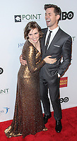 NEW YORK CITY, NY, USA - APRIL 07: Lena Dunham, Andrew Rannells at the Point Honors New York Gala 2014 held at the New York Public Library on April 7, 2014 in New York City, New York, United States. (Photo by Jeffery Duran/Celebrity Monitor)
