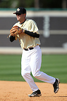 UCF Knights second baseman Spencer Hayes #3 during a game against the Siena Saints at the UCF Baseball Complex on March 4, 2012 in Orlando, Florida.  Central Florida defeated Siena 15-2.  (Mike Janes/Four Seam Images)