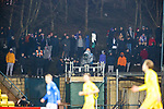03.03.2021 Livingston v Rangers: Rangers fans watching on