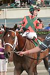 Favorite Mark Valeski with Rosie Napravnik aboard wins the 58th running of the Grade II Peter Pan for 3-year olds at 1 1/8 mile at Belmont Park.  Trainer Larry Jones.  Owner Brereton C. Jones