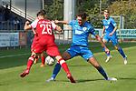 Niklas Antlitz (Nr.19, FC Astoria Walldorf) beim Kampf um den Ball  beim Spiel, FC Astoria Walldorf - SC Freiburg II.<br /> <br /> Foto © PIX-Sportfotos *** Foto ist honorarpflichtig! *** Auf Anfrage in hoeherer Qualitaet/Aufloesung. Belegexemplar erbeten. Veroeffentlichung ausschliesslich fuer journalistisch-publizistische Zwecke. For editorial use only. DFL regulations prohibit any use of photographs as image sequences and/or quasi-video.