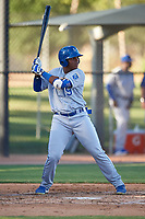 AZL Royals Edickson Soto (19) at bat during an Arizona League game against the AZL White Sox at Camelback Ranch on June 19, 2019 in Glendale, Arizona. AZL White Sox defeated AZL Royals 4-2. (Zachary Lucy/Four Seam Images)