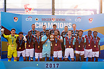 West Ham United (in purple) are the winners of the Main Tournament Shield Final, while Cagliari Calcio (in white) are the runners-up, during the HKFC Citi Soccer Sevens 2017 on 28 May 2017 at the Hong Kong Football Club, Hong Kong, China. Photo by Marcio Rodrigo Machado / Power Sport Images