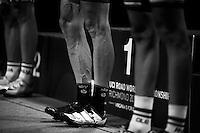 Vasil Kiryienka's (BLR/SKY) World Champ TT calves<br /> <br /> Elite Men TT<br /> UCI Road World Championships / Richmond 2015