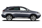 Passenger side profile view of a 2013 Lexus RX 450H