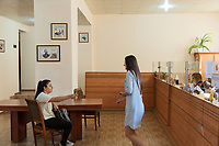 Nagorno-Karabakh, also known as Artsakh, is a landlocked region in the South Caucasus. Stepanakert is the capital and the largest city of the Republic of Artsakh (better known as Nagorno-Karabakh). Central Post Office. Two young women, both customers, talk together while another two women work behind the glass counter. Nagorno-Karabakh is a disputed territory, internationally recognized as part of Azerbaijan, but most of the region is governed by the Republic of Artsakh (formerly named Nagorno-Karabakh Republic), a de facto independent state with Armenian ethnic population. Since 1994, regular peace talks between Armenia and Azerbaijan mediated by the OSCE Minsk Group have failed to result in a peace treaty. 7.10.2019 © 2019 Didier Ruef