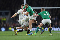 Simon Zebo, FEBRUARY 27, 2016 - Rugby : Simon Zebo of Ireland is tackled by Elliot Daly of England during the RBS 6 Nations match between England and Ireland at Twickenham Stadium, London, United Kingdom. (Photo by Rob Munro)