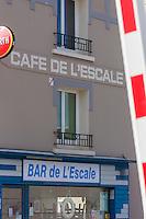 Europe/France/Normandie/Basse-Normandie/50/Manche/Cherbourg: Café de l'Esacale prés du port //   France, Manche, Cotentin, Cherbourg, Café de l'Esacale near the harbour