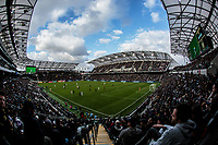 LOS ANGELES, CA - MARCH 01: Banc of California stadium view during a game between Inter Miami CF and Los Angeles FC at Banc of California Stadium on March 01, 2020 in Los Angeles, California.