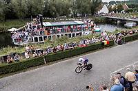 Petr Rikunov (RCF/Gazprom-Rusvelo)<br /> <br /> 88th UCI Road World Championships 2021 – ITT (WC)<br /> Men's Elite Time trial from Knokke-Heist to Brugge (43.3km)<br /> <br /> ©Kramon