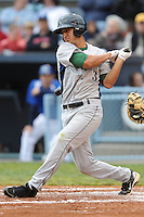 Lexington Legends Jiovanni Mier #3 swings at a pitch during a game against  the Lexington Legends at McCormick Field in Asheville,  North Carolina;  April 16, 2011. Lexington defeated Aheville 13-7.  Photo By Tony Farlow/Four Seam Images