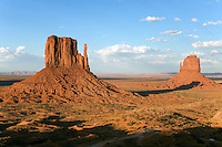 A view of the Mittens at Monument Valley.