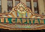 El Capitan Theater Marquee 1926, Hollywood Boulevard, Hollywood, California