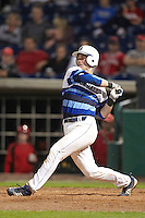 Seton Hall Pirates catcher Dillon Hamlin #20 during a game against the Ohio State Buckeyes at the Big Ten/Big East Challenge at Florida Auto Exchange Stadium on February 18, 2012 in Dunedin, Florida.  (Mike Janes/Four Seam Images)