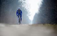 Paris-Roubaix 2013 RECON at Bois de Wallers-Arenberg..Geoffrey Soupe (FRA)