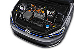Car Stock 2017 Volkswagen Golf e 5 Door Hatchback Engine  high angle detail view