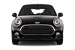 Car photography straight front view of a 2015 MINI MINI Cooper 3 Door Hatchback Front View