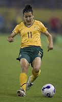 Australia forward (11) Lisa DeVanna. Norway tied Australia 1-1 in their FIFA Women's World Cup China 2007 Group C opening round match at Hangzhou Dragon Stadium in Hangzhou, China on September 15, 2007.