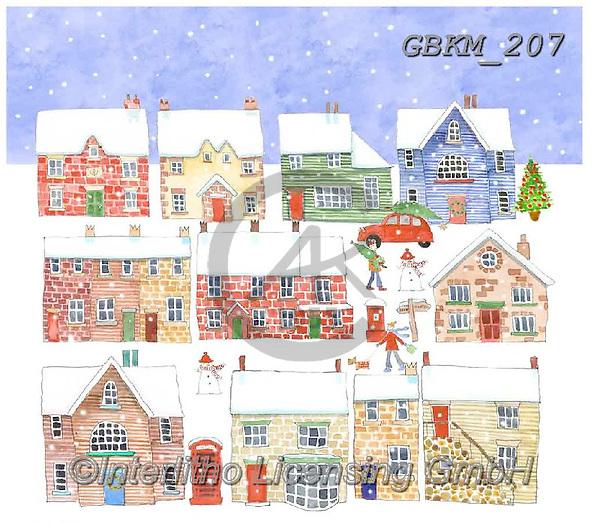 Kate, CHRISTMAS LANDSCAPES, WEIHNACHTEN WINTERLANDSCHAFTEN, NAVIDAD PAISAJES DE INVIERNO, paintings+++++Christmas page 76,GBKM207,#XL#