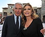 CARLO ROSSELLA CON DANIELA SANTANCHE'<br /> PREMIO CIAK D'ORO - CINECITTA' ROMA 2015