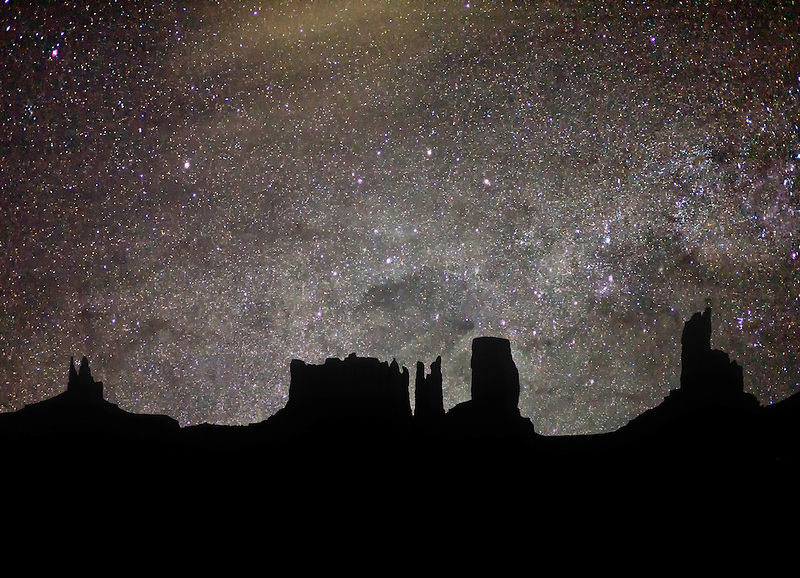 Pre-sunrise in Monument Valley, Arizona.