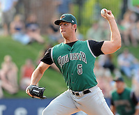 June 5, 2008: Pitcher Madison Bumgarner (5) of the Augusta GreenJackets, Class A affiliate of the San Francisco Giants, in a game against the Greenville Drive at Fluor Field at the West End in Greenville, S.C. Photo by:  Tom Priddy/Four Seam Images