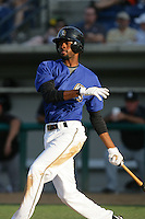 August 9 2009: P.J.Phillips of the Rancho Cucamonga Quakes during game against the San Jose Giants at The Epicenter in Rancho Cucamonga,CA.  Photo by Larry Goren/Four Seam Images